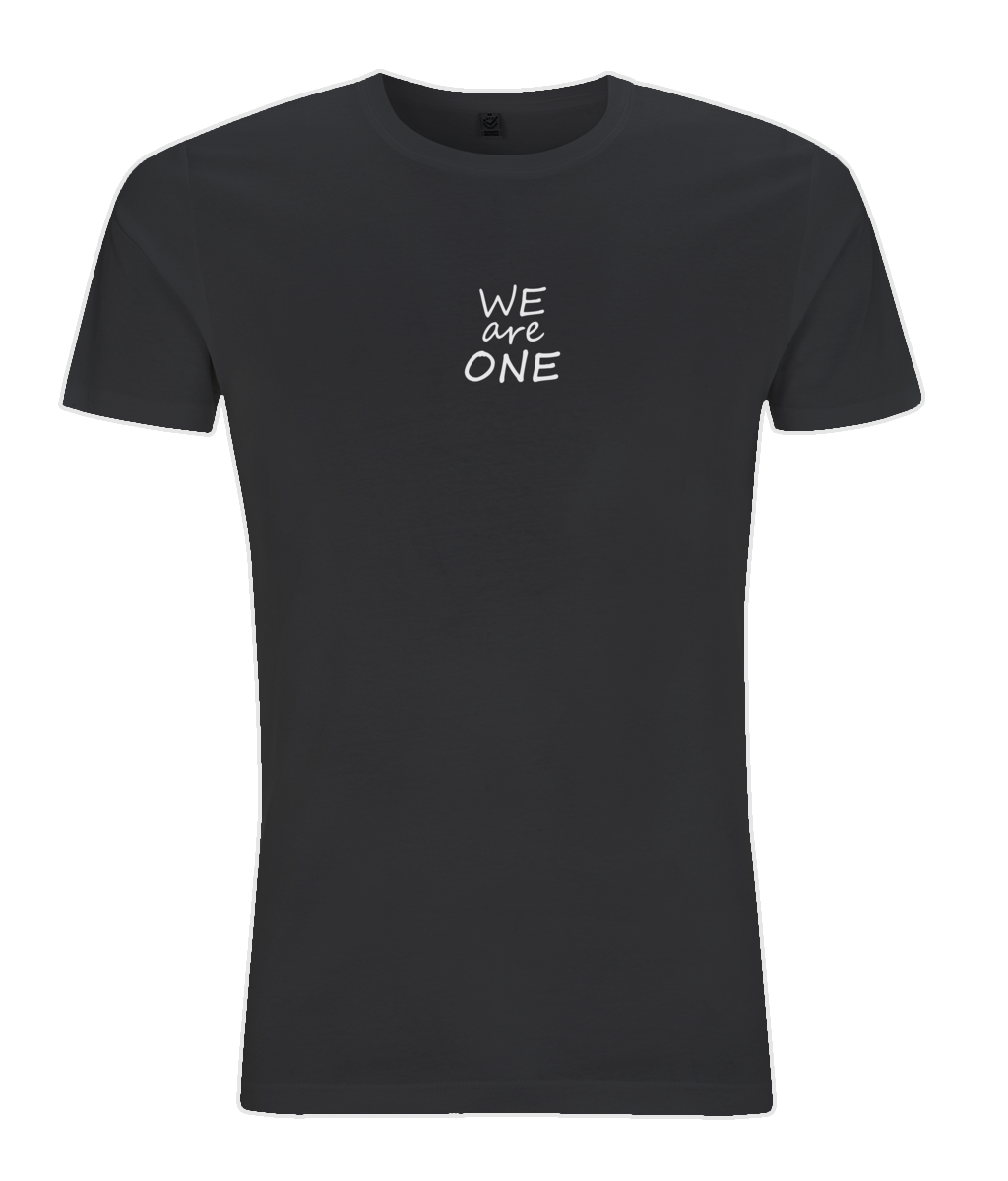 d3ea9c9b ... We Are One Mens Short Sleeve T Shirt   Inspirational Quote   Peace  Quote. 🔍. Organic cotton Yoga Top