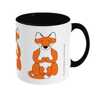Yoga Lotus Position Red Fox Yoga Gift Mug Meditation Gift Mug Mindfulness Gift Mug Hunting Gift Fox Hunting Gift