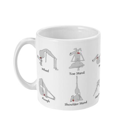 Yoga Mug Dog Yoga Whippet Mug Yoga Gifts Mindfulness Gift Greyhound Whippet Lover
