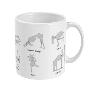 Yoga Mug Dog Yoga Whippet Mug Yoga Gifts Mindfulness Gift Greyhound Whippet Lover