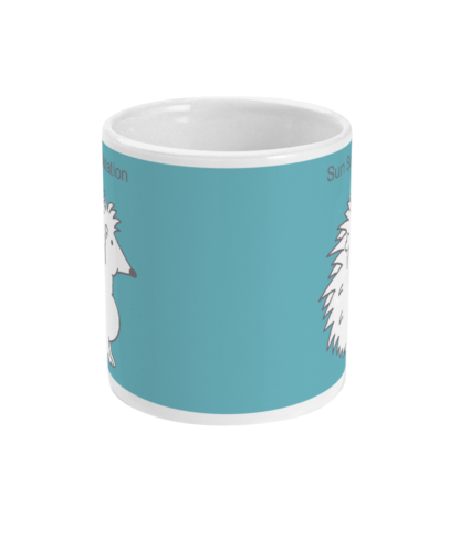 Hedgehog Yoga Pose Mug – Funny Sun Salutation Pose 11 floz Coffee Mug
