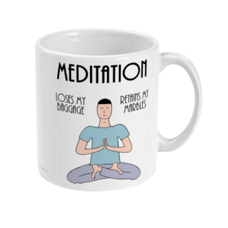 Funny Mindfulness Meditation Mug and Mindfulness Meditation Gifts For men, Him or Mindfulness Gift and Fun Mindfulness Meditation Coffee Mug,Mindfulness Meditation Benefits Definition 11oz Ceramic Mug Birthday Gift Christmas Gift For Yogi or meditator