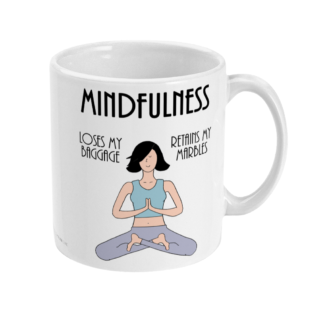 Funny Mindfulnes Meditation Mug and Mindfulnes Meditation Gifts For Women, Her or Mindfulness Gift and Fun Mindfulnes Meditation Coffee Mug,Mindfulnes Meditation Benetfits Definition 11oz Ceramic Mug Birthday Gift Christmas Gift For Yogi or Meditator