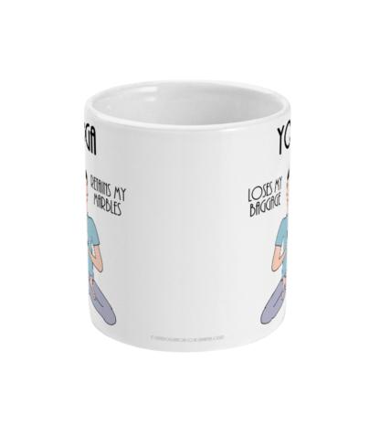 Funny Yoga Mug and Yoga Gifts For men, Him or Yoga Gift and Fun Yoga Coffee Mug,Yoga Benefits Definition 11oz Ceramic Mug Birthday Gift Christmas Gift For Yogi or meditator